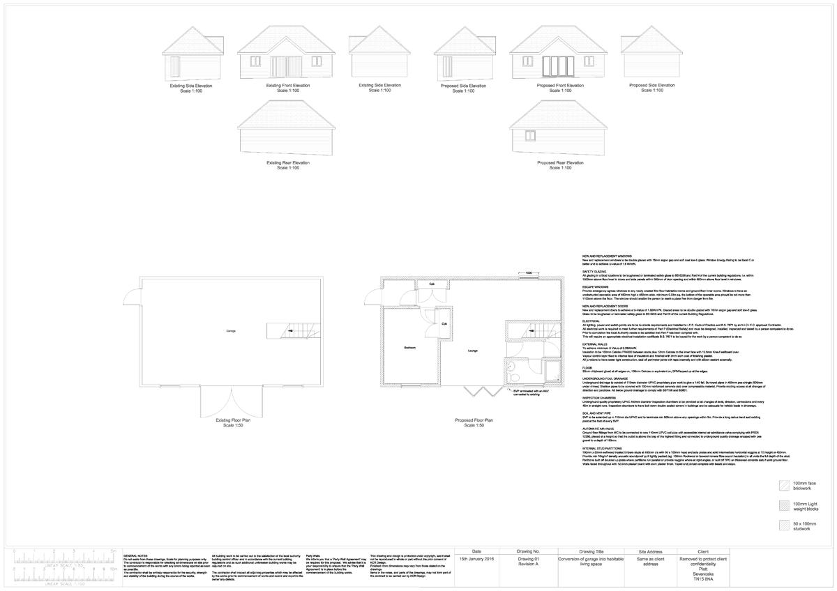 KCR Design Garage Conversion Plans