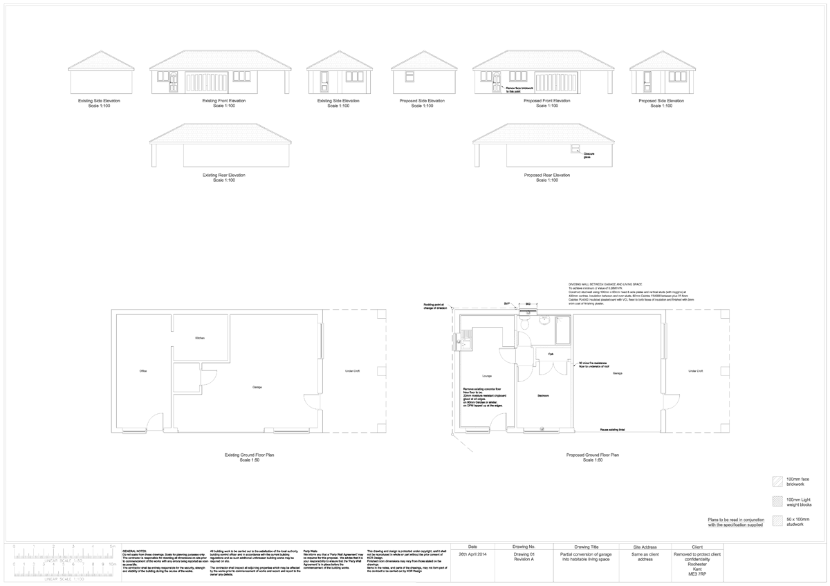 Garage Conversion Full Plans And Specification At Fixed
