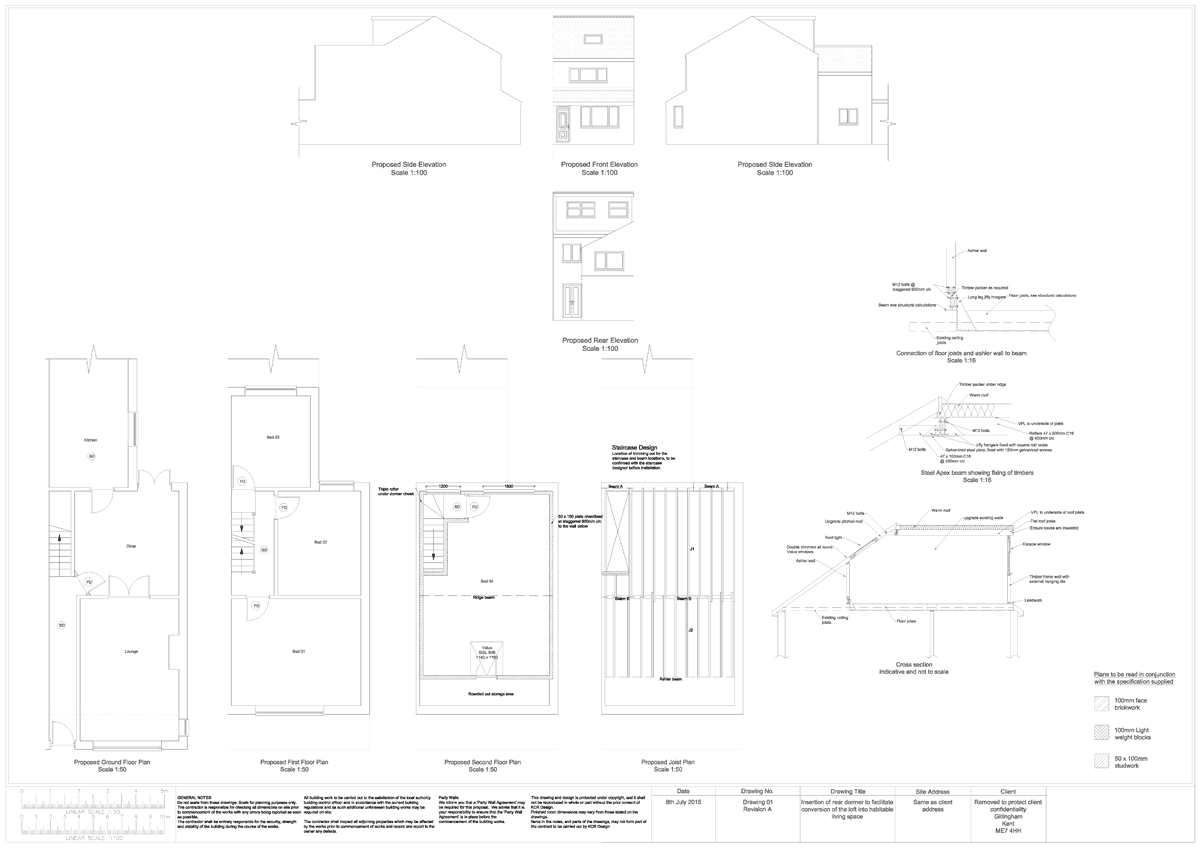 KCR Design Loft Conversion Plans