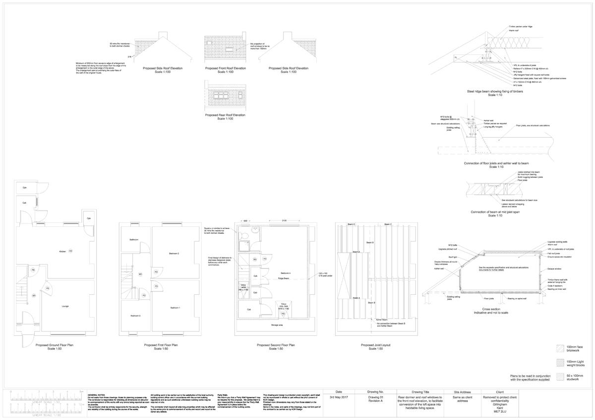 KCR Design Loft Conversion Plans