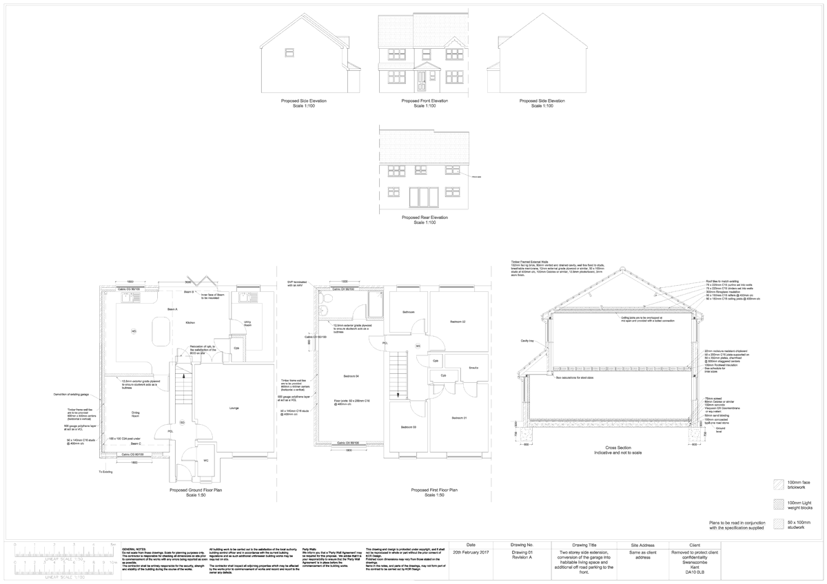 Two storey timber framed extension - Plans & Specification At Fixed ...